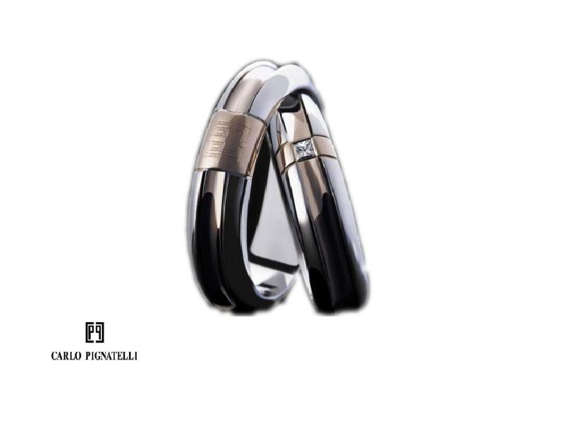 Conosciuto Fedi Nuziali oro, brillanti, platino, Polello, Carlo Pignatelli  LG75